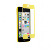 QDOS Colour Match - качествено защитно покритие за iPhone 5, iPhone 5S, iPhone SE, iPhone 5C (жълт)