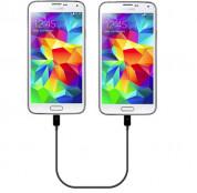Samsung Power Sharing Cable EP-SG900UB - microUSB кабел за зареждане на едно устройство от друго (черен) 2