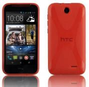 X-Line Cover Case - силиконов калъф за HTC Desire 310 (червен)