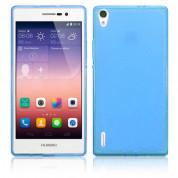 Protective Border Case - силиконов калъф за Huawei Ascend P7 (син)