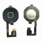 OEM Home Button Key Cable - лентов кабел за Home бутона (с бутона) за iPhone 4 (черен)
