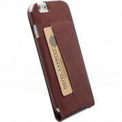 Krusell Kalmar Flip Case - leather case for iPhone 6, iPhone 6S (brown) 3