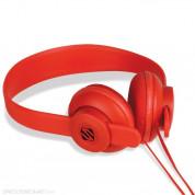 Scosche lobeDOPE Bursh Fire - слушалки с микрофон и управление на звука за iPhone и мобилни устройства (червен)