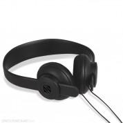Scosche lobeDOPE Burnt Coal - слушалки с микрофон и управление на звука за iPhone и мобилни устройства (черен)