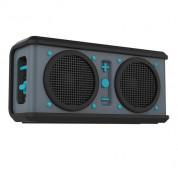 Skullcandy Air Raid Bluetooth Speaker - ударо и водоустойчива безжична уникална аудио система за мобилни устройства (син-сив)