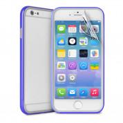 Puro Bumper Frame - силиконов бъмпер за iPhone 6 Plus, iPhone 6S Plus (син)