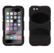 Griffin Survivor All-Terrain Extreme-Duty Case - защита от най-висок клас за iPhone 6 Plus, iPhone 6S Plus (черен)