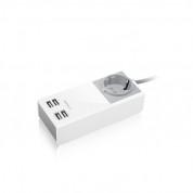 Macally UniStrip2 USB Wall Charger & AC outlet - AC контакт и захранване с 4 USB изхода в едно за мобилни устройства 1