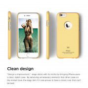 Elago S6 Slim Fit Case + HD Clear Film - case and screen film for iPhone 6, iPhone 6S (yellow) 5