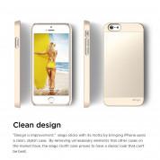 Elago S6 Outfit Aluminum + HD Clear Film - алуминиев кейс и HD покритие за iPhone 6, iPhone 6S (златист) 2
