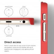 Elago S6 Outfit Aluminum + HD Clear Film - алуминиев кейс и HD покритие за iPhone 6, iPhone 6S (тъмночервен-златист) 8