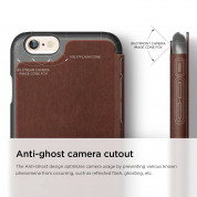 Elago S6 Leather Flip Case for iPhone 6, iPhone 6S + HD Professional Extreme Clear film included - [Limited Edition] 7