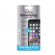 Puro Protective Film - прозрачно защитно покритие за iPhone 6 Plus, iPhone 6S Plus (два броя в комплекта) 1