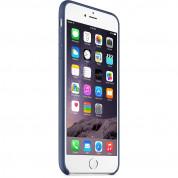 Apple iPhone Case - оригинален кожен кейс (естествена кожа) за iPhone 6 Plus, iPhone 6S Plus (син) 4
