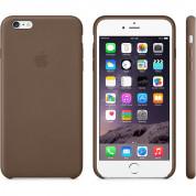 Apple iPhone Case - оригинален кожен кейс (естествена кожа) за iPhone 6 Plus, iPhone 6S Plus (кафяв) 6