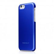 Macally PC case - поликарбонатов кейс за iPhone 6 Plus, iPhone 6S Plus (син)