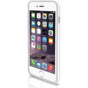 Macally Protective Frame - силиконов бъмпер за iPhone 6 Plus, iPhone 6S Plus (бял)