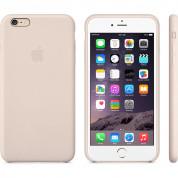 Apple iPhone Case - оригинален кожен кейс (естествена кожа) за iPhone 6 Plus, iPhone 6S Plus (бледо розов) 1