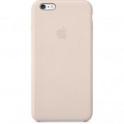 Apple iPhone Case - оригинален кожен кейс (естествена кожа) за iPhone 6 Plus, iPhone 6S Plus (бледо розов)