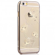 Comma Crystal Flora Case with Swarovski Elements for iPhone 6, iPhone 6S (gold)