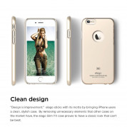 Elago S6P Slim Fit Case + HD Clear Film - case and screen film for iPhone 6 Plus (gold) 2