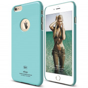 Elago S6P Slim Fit Case + HD Clear Film - case and screen film for iPhone 6 Plus (coral blue)