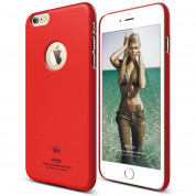 Elago S6P Slim Fit Case + HD Clear Film - case and screen film for iPhone 6 Plus (red)
