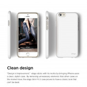 Elago S6P Slim Fit 2 Case + HD Clear Film - case and screen film for iPhone 6 Plus (white) 2