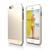 Elago S6P Outfit Aluminum + HD Clear Film - алуминиев кейс и HD покритие за iPhone 6 Plus, iPhone 6S Plus (златист)