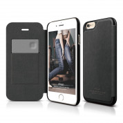 Elago S6 Leather Flip Case for iPhone 6, iPhone 6S + HD Professional Extreme Clear film included - [Limited Edition]