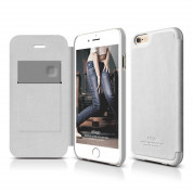 Elago S6 Leather Flip Case for iPhone 6 + HD Professional Extreme Clear film included - [Limited Edition]