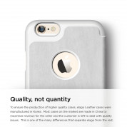 Elago S6 Leather Flip Apple Cut Case for iPhone 6 + HD Professional Extreme Clear film included - [Limited Edition] 1