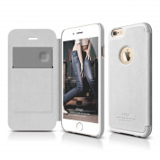 Elago S6 Leather Flip Apple Cut Case for iPhone 6 + HD Professional Extreme Clear film included - [Limited Edition]