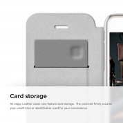 Elago S6 Leather Flip Apple Cut Case for iPhone 6 + HD Professional Extreme Clear film included - [Limited Edition] 4