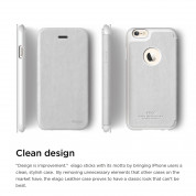Elago S6 Leather Flip Apple Cut Case for iPhone 6 + HD Professional Extreme Clear film included - [Limited Edition] 2