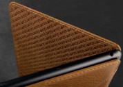 Vaja Nuova Pelle Bridge Argentina Leather Case - луксозен кожен калъф (ръчна изработка) за iPad Mini, iPad mini 2, iPad mini 3 (тъмнокафяв) 4