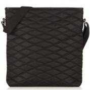 Knomo Maple Cross Body Bag - кожена чанта с презрамка за iPad и таблети до 10.2 инча (черен) 2
