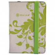 Gaiam Multi-Tilt Folio Case - кожен кейс и поставка за iPad mini, iPad mini 2, iPad mini 3 (зелен)