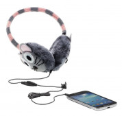 KitSound On-Ear Mouse Knit Audio Earmuffs - ушанки с вградени слушалки с 3.5 мм аудио жак за iPhone и мобилни устройства (сив) 4