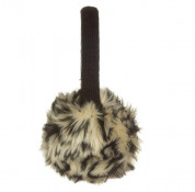 KitSound On-Ear Leopard Fur Audio Earmuffs - ушанки с вградени слушалки с 3.5 мм аудио жак за iPhone и мобилни устройства (черен) 1