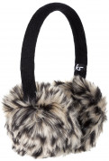 KitSound On-Ear Leopard Fur Audio Earmuffs - ушанки с вградени слушалки с 3.5 мм аудио жак за iPhone и мобилни устройства (черен) 2