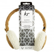KitSound On-Ear Sheepskin Fur Audio Earmuffs for iPod, iPhone, Smartphone and MP3 Devices  2