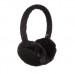 KitSound On-Ear Sequin Fur Audio Earmuffs - ушанки с вградени слушалки с 3.5 мм аудио жак за iPhone и мобилни устройства (черен) 1