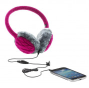 KitSound On-Ear Fur Audio Earmuffs for iPod, iPhone, Smartphone and MP3 Devices  1