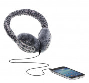 KitSound On-Ear Multi Lurex Knit Audio Earmuffs - ушанки с вградени слушалки с 3.5 мм аудио жак за iPhone и мобилни устройства (сив) 1