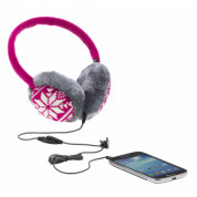 KitSound Audio Earmuffs Fairislie for iPhone and mobile devices (pink) 2