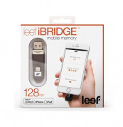 Leef iBRIDGE Mobile Memory 128GB - външна памет за iPhone, iPad, iPod с Lightning (128GB) (черен)  2