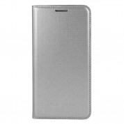 Samsung Flip Wallet Cover EF-FG850B - оригинален кожен калъф за Samsung Galaxy Alpha (сребрист)