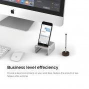 Elago M3 Stand - поставка от алуминий и дърво за iPhone и iPad mini (сребриста) 5