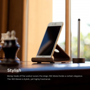 Elago W2 Stand (Natural Wood) for for all iPhones, iPad mini, Galaxy and Smartphones (walnut) 4